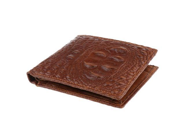 Mens New Luxury Quality PU Leather Wallet Credit Card Holder Purse Coffee (605020144200 Belts & Suspenders) photo