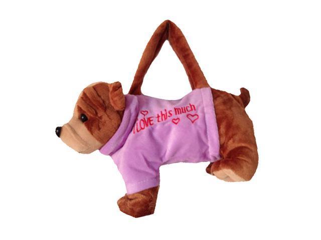 Girls Coin Purse Totes Zipper Handbag Soft Plush Animal Model Toy -Shari Pie (029134252710 Belts & Suspenders) photo