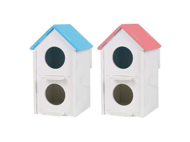 2pcs Double Hole Pet Bird Parrot Hatching Breeding Box Nest House (753244947685 Hardware Tools Saws Table Saws) photo