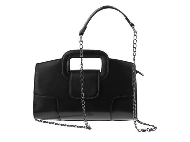 Women Shoulder Bag Satchel Tote Girls Messenger Handbag Clutch Purse Black (760339877123 Belts & Suspenders) photo