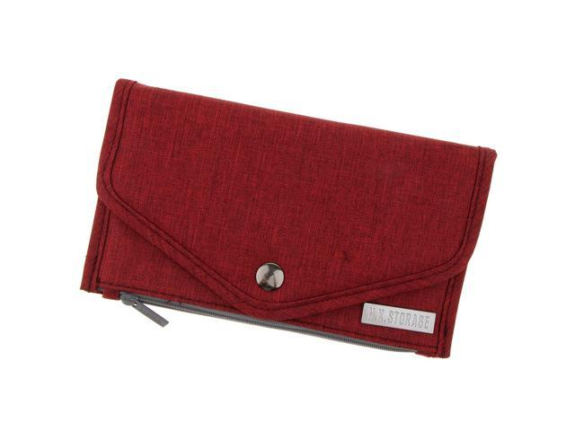 Womens Polyester Long Wallet Credit/ID Card Passport Holder Clutch Purse Red (745270139608 Belts & Suspenders) photo