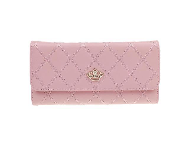 Fashion Ladies Leather Style Envelope Clutch Bag Purse Pink (703666202541 Belts & Suspenders) photo