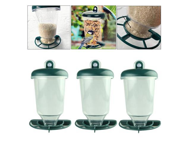 3x Outdoor Glass Window Viewing Bird Feeder Automatic Seed Peanut Suction Up (825201459309 Home & Garden Lawn & Garden Outdoor Living) photo