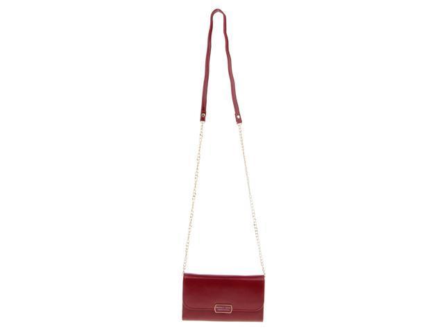 Women PU Leather Clutch Wallet Purse Evening Cross Body Handbag Wine red (703656739514 Belts & Suspenders) photo