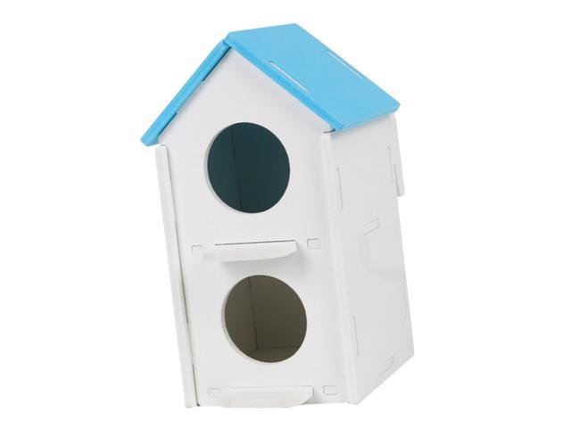 Double Hole Pet Bird Parrot Hatching Breeding Box Nest House Blue (753244947647 Hardware Tools Saws Table Saws) photo