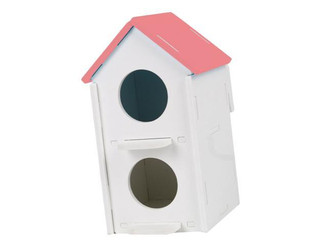 Double Hole Pet Bird Parrot Hatching Breeding Box Nest House Pink (753244947623 Hardware Tools Saws Table Saws) photo