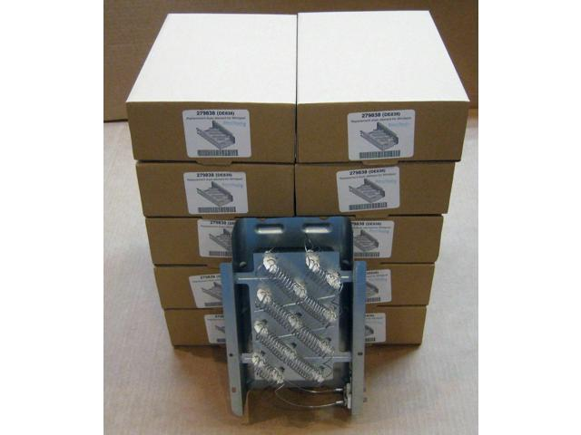 279838-10 PACK for Whirlpool Dryer Heater Heng Element Asm 1 Year Warranty photo