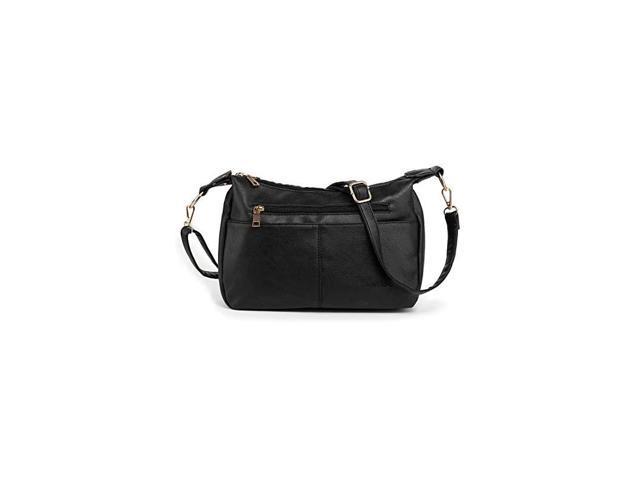 Vegan Leather Handbags Messenger Bag Crossbody Purse for Women Hobo Bag Tote Purse Ladies Satchel with Shoulder Strap Black (Electronics Computer Components Laptop Parts) photo