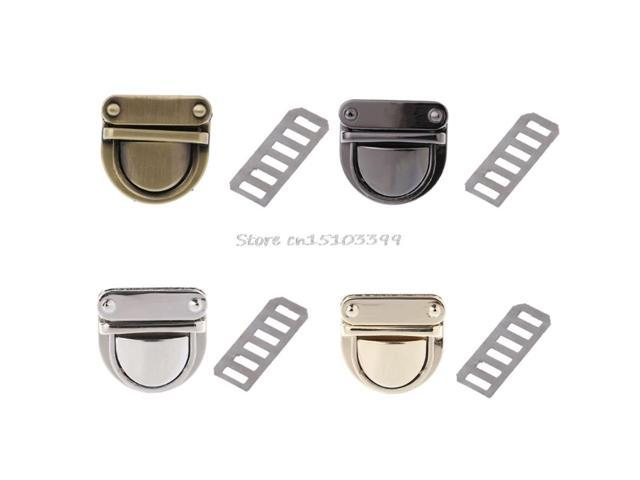 Metal DIY Bag Twist Lock Clasp Turn Lock For bag Snap Lock Purse Bag Accessories Part Handmade Closure Hasp Buckle without screw (772286035020 Electronics) photo