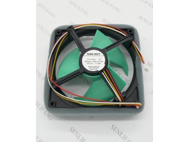 FBA12J14V 7F11A75S Refrigerator Fan DC 14V 0.28A 125x125mm 4-wire photo