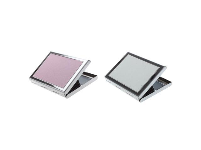 2 Pcs Waterproof Stainless Steel Business ID Credit Card Wallet Holder Case Box Purse, Pink & White (Electronics) photo