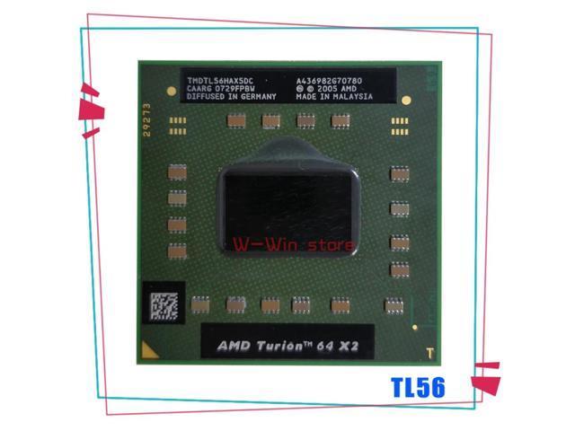 AMD Turion 64 X2 Mobile technology TL-56 TL 56 TL56 1.8 GHz Dual-Core Dual-Thread CPU Processor TMDTL56HAX5DC Socket S1 (Electronics) photo