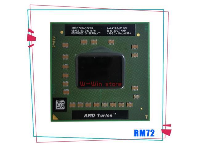 AMD Turion 64 X2 Mobile technology RM-72 RM 72 RM72 2.1 GHz Dual-Core Dual-Thread CPU Processor TMRM72DAM22GG Socket S1 (Electronics) photo