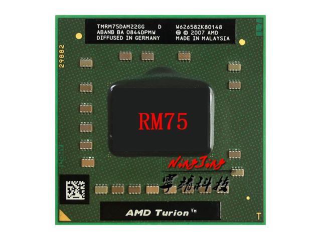 AMD Turion 64 X2 Mobile technology RM-75 RM 75 RM75 2.2 GHz Dual-Core Dual-Thread CPU Processor TMRM75DAM22GG Socket S1 (Electronics) photo