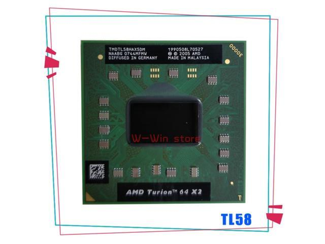 AMD Turion 64 X2 Mobile technology TL-58 TL 58 TL58 1.9 GHz Dual-Core Dual-Thread CPU Processor TMDTL58HAX5DC Socket S1 (Electronics) photo