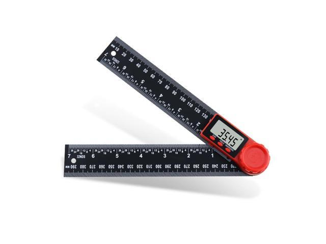 0-200mm 0-300mm 360 LCD Display Carbon Fiber Digital Angle Ruler Inclinometer Electron Goniometer Protractor Angle Finder Meter Measuring Tool