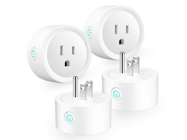 Smart Plug WiFi Mini Socket for Smart Home Remote Control Home Appliances and Electrical Equipment, for Alexa Echo Google A,White photo