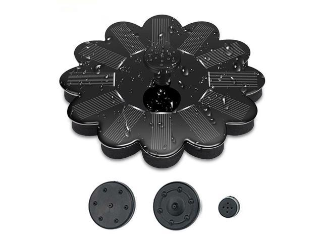 Floating Micro Water Flow Solar Fountain Outdoor Pool Decoration Fountain Water Pump Bird Feeder Solar Energy Water Sprinkler (791377089988 Heavy Machinery) photo