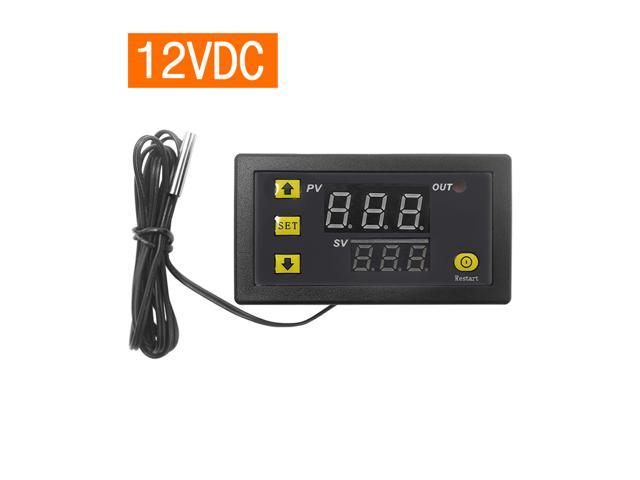 W3230 Mini Digital Temperature Controller LED Display Thermostat Regulator DC 12V 20A Temperature Control Switch Sensor Meter photo