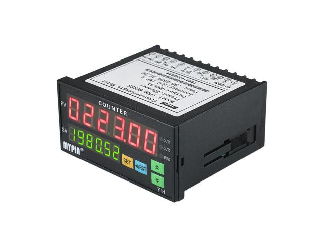 Multi-functional Dual LED Display Digital Counter 90~265V AC/DC Length Meter with 2 Relay Output and Pulse PNP NPN photo