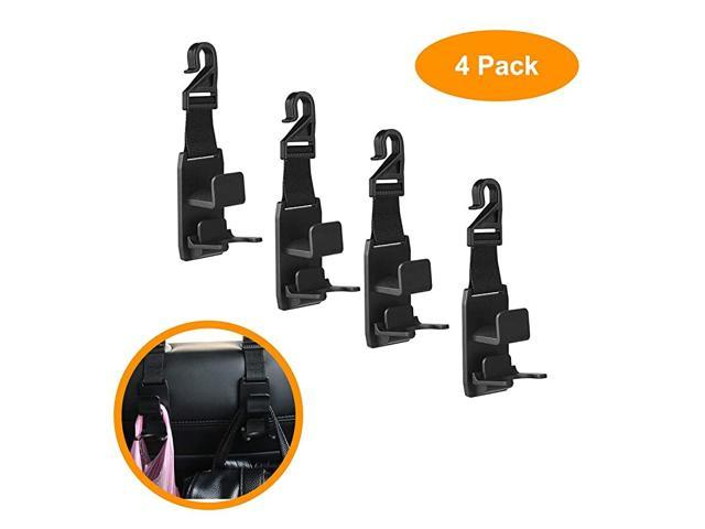 Car Headrest Hook, Portable Back Front Seat Headrest Hanger Holder Hook with Bottle Holder for Storage Purse, Backpack, Handbag, Coat and Grocery. (Vehicles & Parts Motor Vehicle Parts) photo