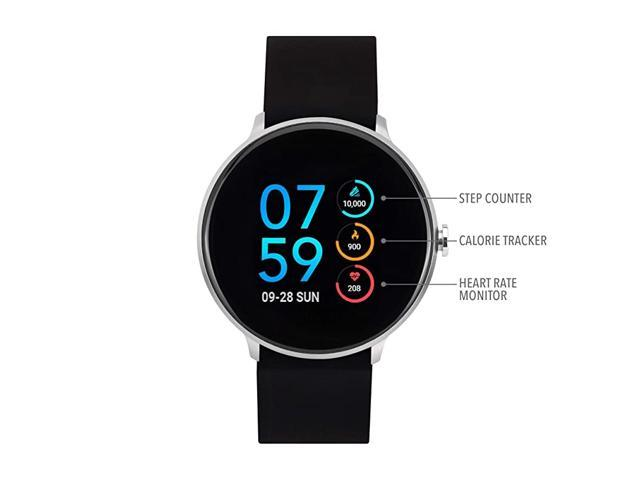 Sport Round Smartwatch with Waterproof Technology Heart Rate Monitor MultiSports Mode Pedometer for Android and iOS Smart Phones Solid Silicone. (Watch Accessories) photo