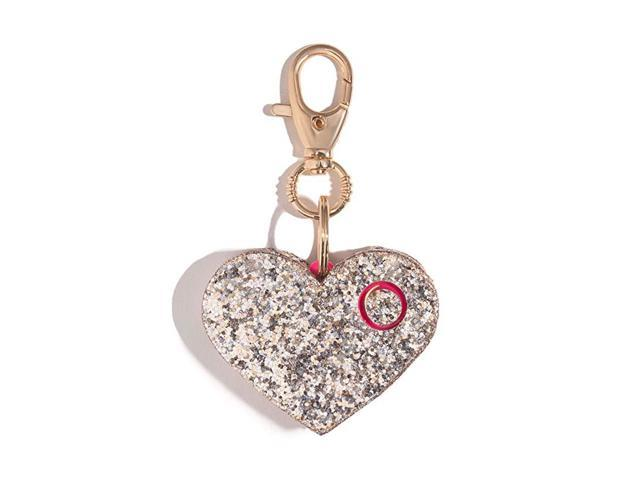 Personal Safety Alarm for Women Ahhlarm Emergency SelfDefense Security Alarm Keychain with LED Light Purse Charm Champagne Glitter Heart (Home & Garden) photo