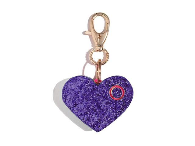 Personal Safety Alarm for Women Ahhlarm Emergency SelfDefense Security Alarm Keychain with LED Light Purse Charm Purple Glitter Heart (Home & Garden) photo