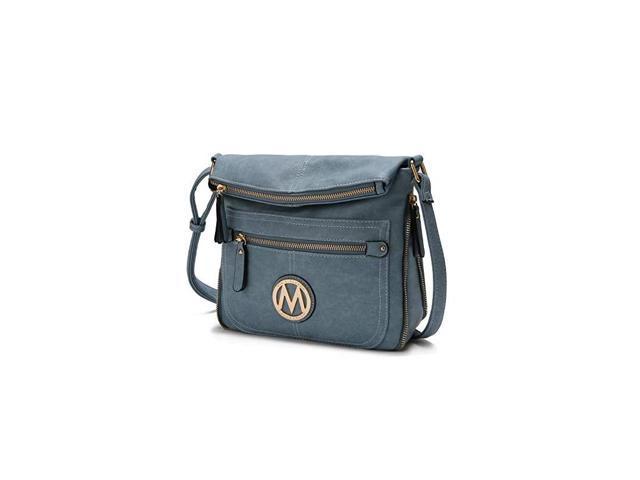 Crossbody Bag for Women PU Leather Expandable Messenger Purse Designer Pocketbook Handbag Shoulder Strap Danim (Electronics Computer Components Laptop Parts) photo