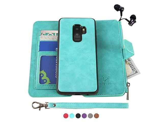 Galaxy S9 Plus Case Detachable Wallet Folio2 in 1Zipper Cash StorageUp to 14 Card Slots 1 Photo Window PU Leather Purse Clutch with Removable Inner. (Electronics Computer Components Laptop Parts) photo