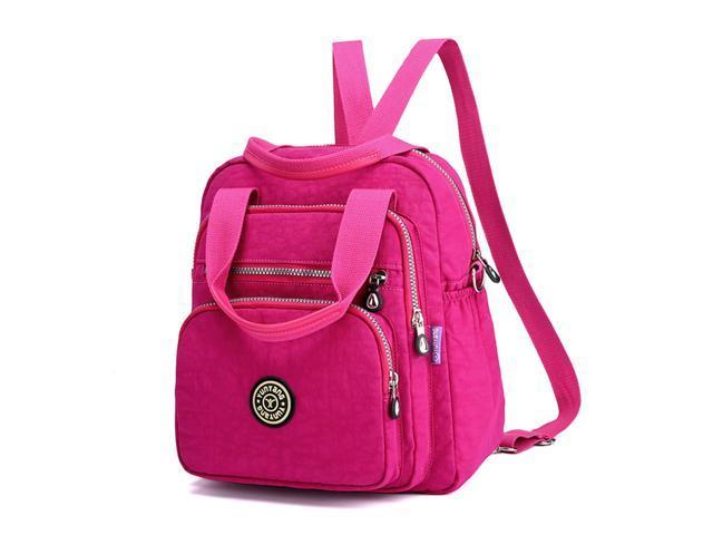 Backpack Fashion Shoulder Bag Multipurpose Nylon Backpack Purse Travel Daypack Casual Schoolbag for Girls Khaki (335145472017 Office Supplies) photo