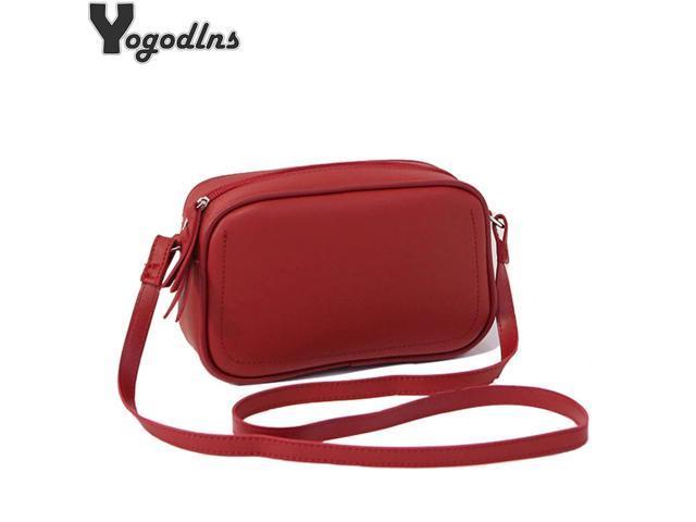 Simple Obag Shoulder Bags for Girls Purse PU Leather Crossbody Bags Women Handbag Lady Retro Messenger Bag Mini Pouch Bag (Luggage & Bags) photo