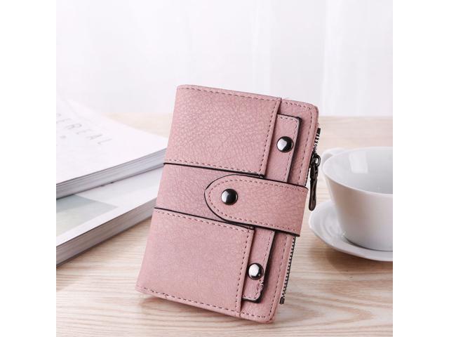 Wallet Simple Retro Rivets Short Wallet Coin Purse Card Holders Handbag for Girls Purse Small Wallet Ladies Bolsa Feminina (Wallets & Keyholders) photo