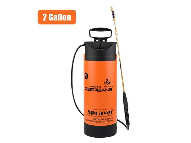 2 Gallon Garden Pump Sprayer with Wand Pressure Gauge Handheld Water Sprayers Plant Water Mister Sprayer Lawn Mister Bottle for Watering Cleaning. photo