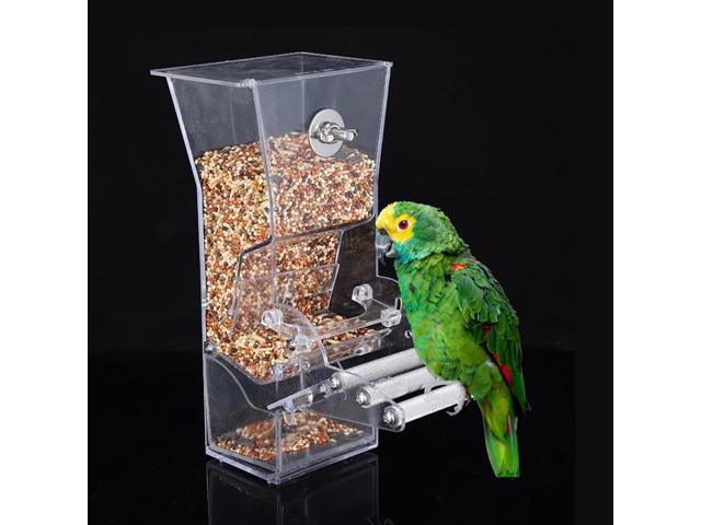 Hanging Bird Feeder for Cage Bird Feeder House Bird Feed Box Hanging Parrot Food Feeder Container Outdoor Feeding Birdfeeders Perch Cage Accessories (791779211611 Motor Vehicle Parts) photo