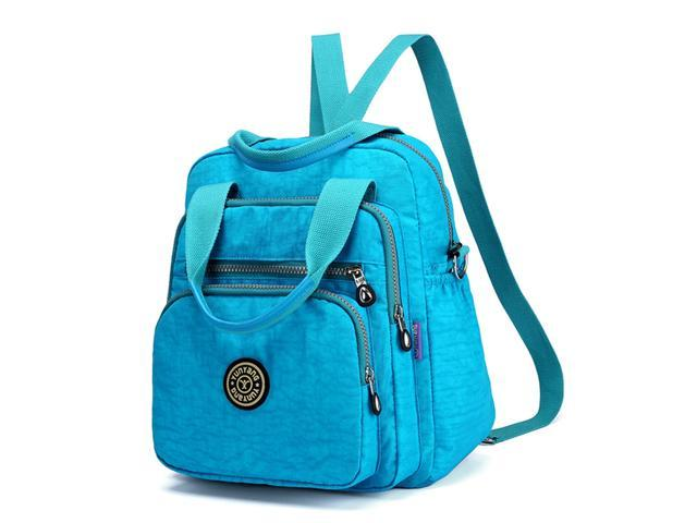 Backpack Fashion Shoulder Bag Multipurpose Nylon Backpack Purse Travel Daypack Casual Schoolbag for Girls Blue (816806794049 Office Supplies) photo