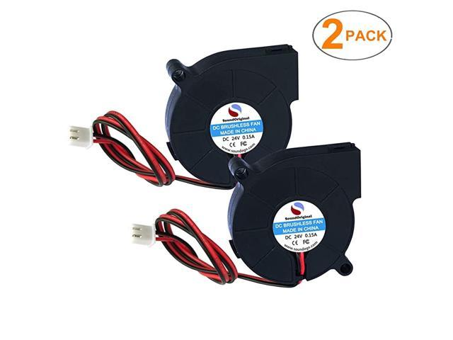 24V DC Brushless Blower Cooling Fan 50x50x15mmfor 3D Printer Humidifier Aromatherapy and Other Small Appliances Series Repair Replacement 2pcs 24V photo