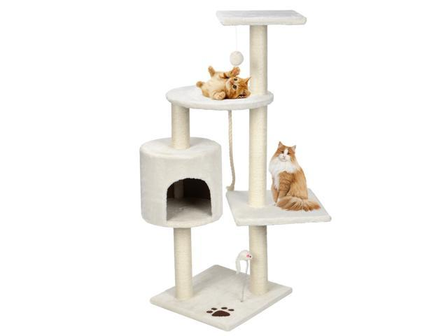 Activity Center Kitty Condo Home Furniture 44' Scratching Cat Tree Living Room (Sporting Goods Outdoor Recreation Skateboarding Skateboards) photo