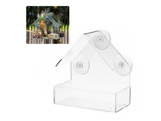 Window Birds Feeder for Outside Removable Feeding Tray Clear Viewing Seed Tool (Home & Garden Kitchen & Dining Kitchen Appliances) photo