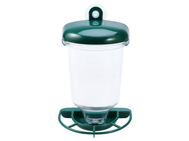 Clear Plastic Window Wild Bird Feeder with Sucker for Songbird Parrot (Home & Garden Lawn & Garden Gardening Gardening Tools Wheelbarrows) photo