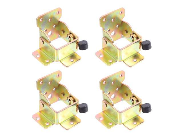 4pcs Self-Locking Hinges Metal Hinges Iron Hinges for Apartment Rental Room Home (Electronics Audio Audio Components) photo