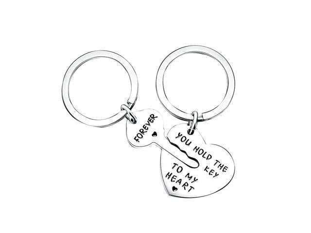 Keychain Purse Keyring Alloy Key Ring Fashionable Hanging Ornament with Engraving Words(Forever You Hold The Key To My Heart) Couple Keychain for. (Cameras & Optics) photo