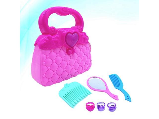 Girls Candy Simulation Handcase Pretend Traveling Handbag and Dress-up Set Kids Vanity Beauty Pretend Purse Loaded with Every Day Accessories (Toys & Games Toys Educational Toys) photo