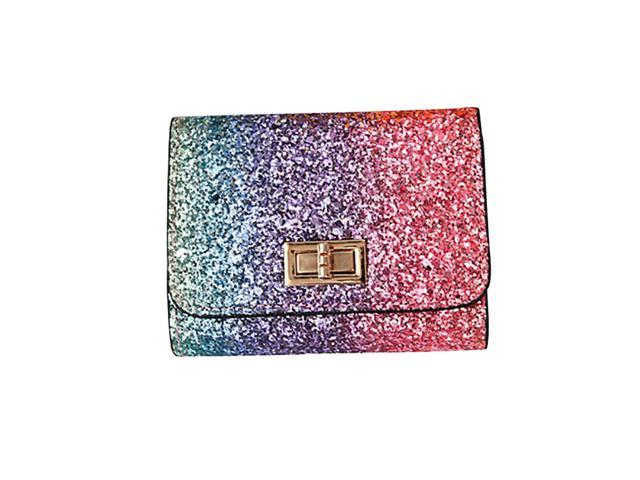 Fashion Sparkly Sequin Purse Bag Lady Party Handbag Evening Bling Wallet Case Bag for Women Girls (Switch Lock Design) (Electronics Computer Components Laptop Parts) photo