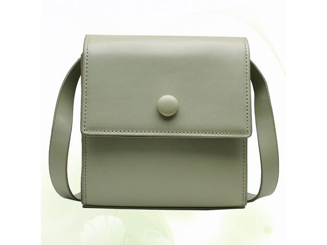 Simple PU Leather Handbags Girls Casual Square Chain Messenger Crossbody Purse Shoulder Bag for Women Girls (Green) (Luggage & Bags) photo