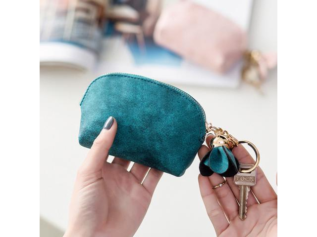 Chic Flower Petals Tassel Pendant Shell Coin Purse with Key Chian for Women Girls (Pink) (Home & Garden Kitchen & Dining Thermoses) photo
