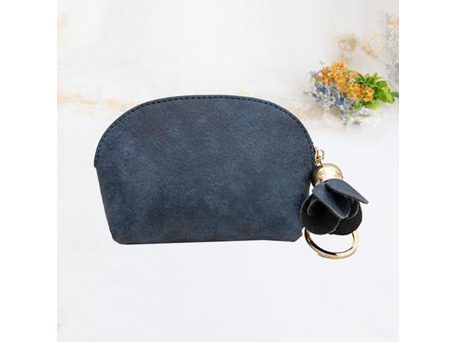 1pc PU Leather Change Purse Mini Casual Flower Pendant Coin Wallet Purse (Green) (Wallets & Keyholders) photo