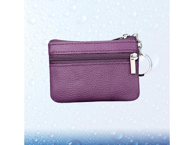 Multifunction Wallet Fashion Woman Coin Purse Simple Zipper Short Storage Bag for Coin Money Key (Red) (Belts & Suspenders) photo