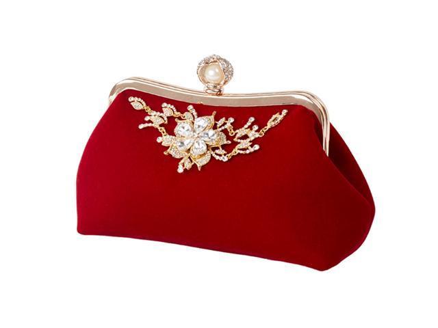 Women Girls Evening Bag Purse Clutch Banquet Party Handbag with Rhinestones (Electronics Video) photo