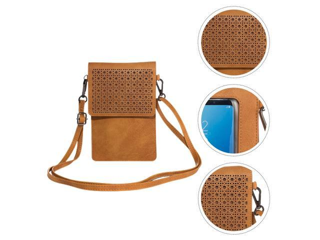 1pc Touch Screen Leather Phone Purse with Cards Slot Clear Window Phone Bag (Toys & Games Toys) photo